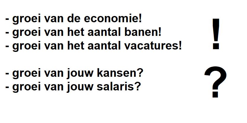 groei van economie, groei van jouw salaris?
