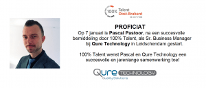 Pascal Pastoor gestart als Sr. Business Manager bij Qure Technology