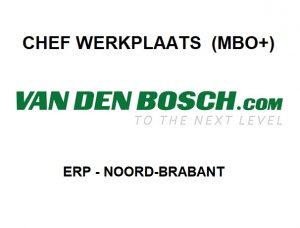 Vacature voor een chef werkplaats in Erp, Noord-Brabant