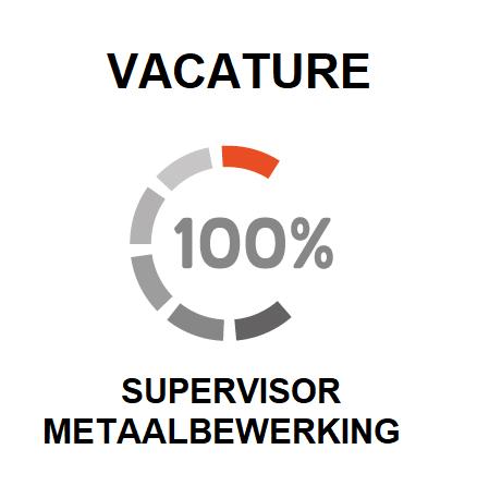 vacature voor een supervisor metaalverwerking